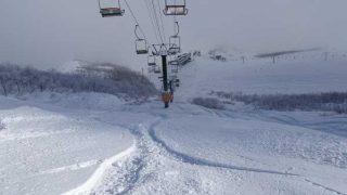 八方尾根スキー場の粉雪パウダー!