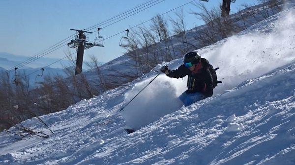 八方尾根の天気と雪質は最高でした!