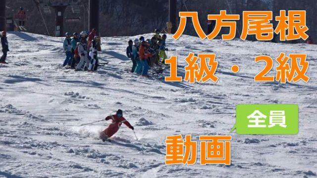 八方尾根スキー検定、1級,2級の動画